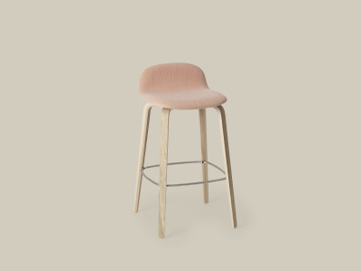 Visu Bar Stool - Upholstered B0304 - Elmosoft 13060 grey/brown, Low