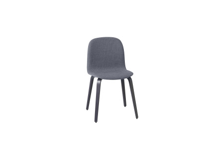 Visu Chair Wood Base Dark Gray