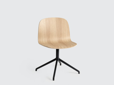 Visu Wide Chair Swivel Base Oak/Black
