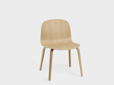 Visu Wide Chair Wooden Base Oak/Oak