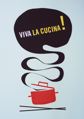 Viva la Cucina Litographic Print Without Frame