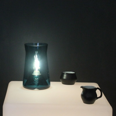 Waisted Table Lamp Teal Blue