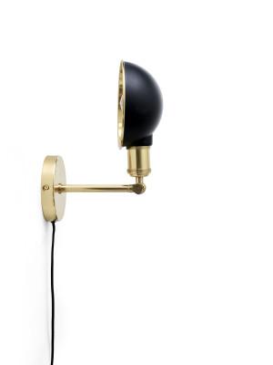 Walker Ceiling/Wall Lamp Short, Black