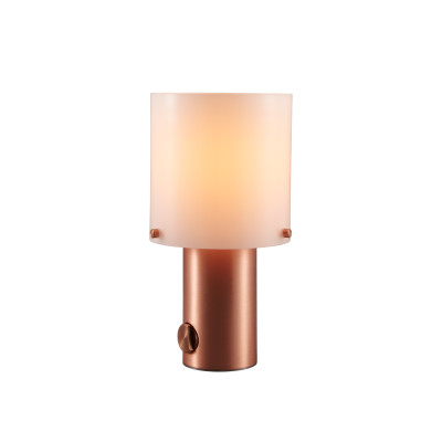 Walter Table Lamp Opal Glass & Copper, Small