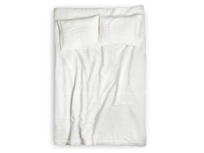 White linen duvet Pleated King/UK Super King 260x220cm