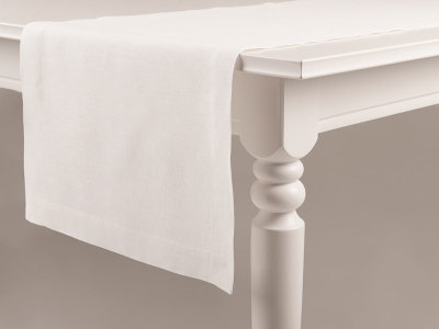White table linens table runner 40x240cm