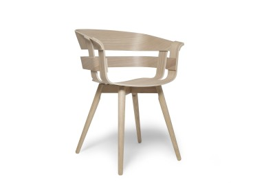 Wick Chair - Wooden Legs Oak