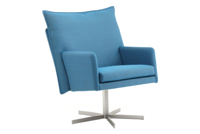 Wigwam Armchair Fabric, Blue Cross