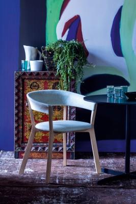 Wood Bikini Dining Chair B0211 - Leather Oil cirè