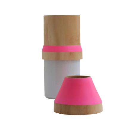 Wood & Ceramic Stacking Vase
