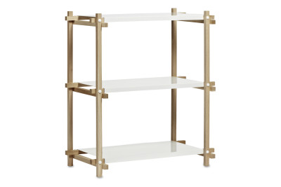 Woody Column Shelving System Nature, White, Low