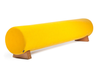 Woody Large Upholstered Bench Yellow