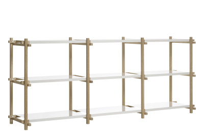 Woody Shelving System Nature, White, Low