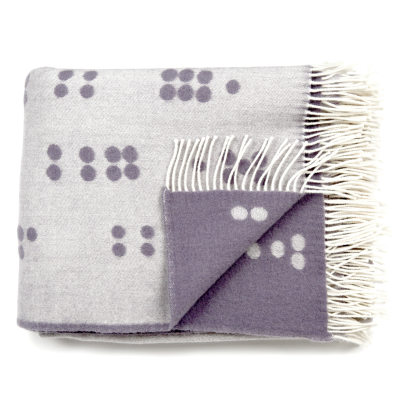 Wool Throw Dot grey