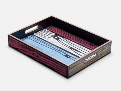 Wrongwoods Tray - Set of 4 Four Colour Candyman