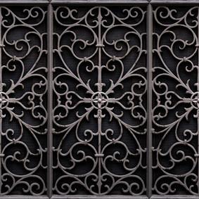 Wrought Metal Gate Wallpaper Sample