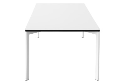 Y! Dining Table White Laminate Top, White Lacquered Legs, 90x180 cm