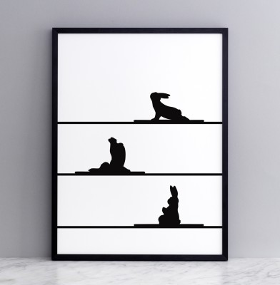 Yoga Rabbit Screen Print Large