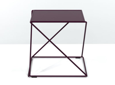 Z Stackable Side Table Aubergine