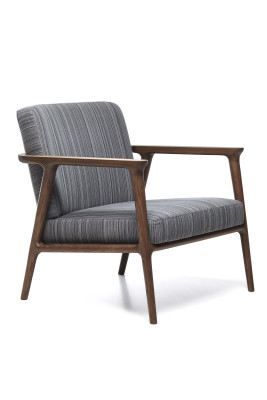 Zio Lounge Chair Macchedil Grezzo Black indigo, Moooi Black Stained