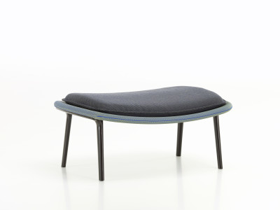 Slow Ottoman Black, Base polished, Felt glides for hard floor