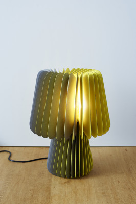 Beam Table Lamp  Smoke Grey & Factory Yellow