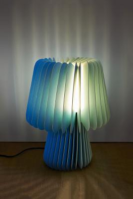 Beam Table Lamp - Tabriz Blue & Sorbet Yellow
