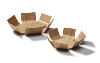 Lily bowls, oak