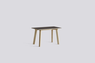 Copenhague Deux Bench CPH215 Pearl White laminate, Ink Black painted beech, 200