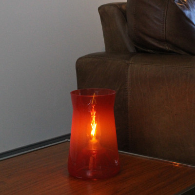 Waisted Table Lamp Hot Red