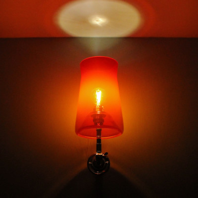 Waisted Wall Lamp Hot Red