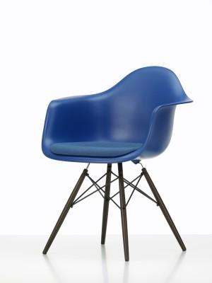 DAW Side Chair with Seat Upholstery 65 Ash honey tone, 04 White, 04 Glides basic dark for carpet, Hopsak 79 warmgrey/ivory