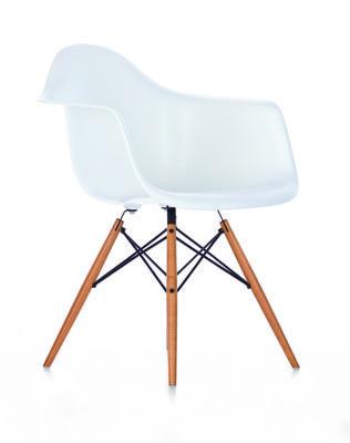 DAW Side Chair 65 Ash honey tone, 04 White, 04 Glides basic dark for carpet