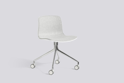 About A Chair AAC14 with front upholstery Leather Silk SIL7008 Purple, White, Polished Aluminium