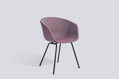 About A Chair AAC27 Leather Silk SIL7008 Purple, Chromed steel