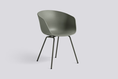 About A Chair AAC26 Brick, Dark brick powder coated Steel
