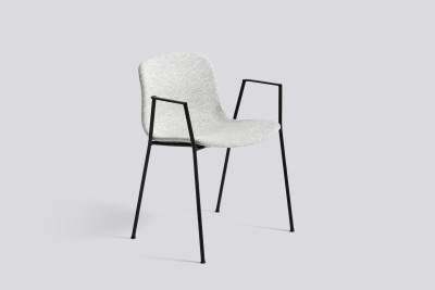 About A Chair AAC19 Leather Silk SIL0197 Cream, Chromed Steel