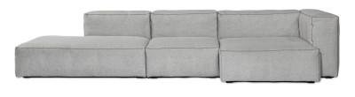 Mags Soft Chaise Lounge Extra Wide Modular Element S8361 - Right Leather Silk SIL0197 Cream