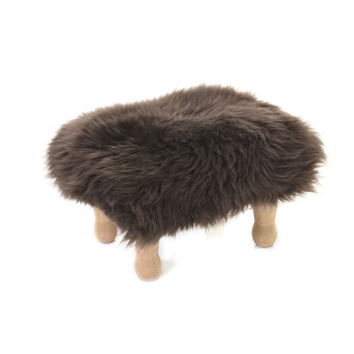 Angharad sheepskin Footstool  Angharad Baa Stool in Mink