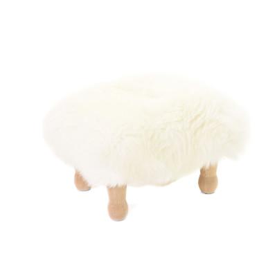 Angharad sheepskin Footstool  Angharad Baa Stool in Ivory
