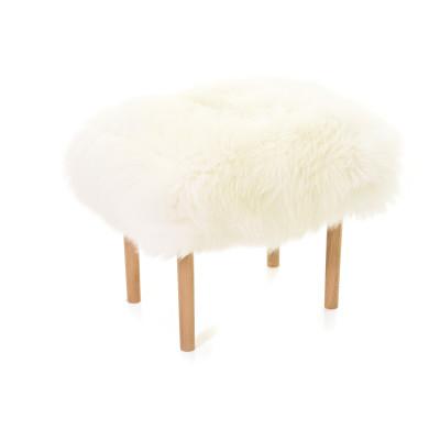 Carys Sheepskin Footstool  Ivory