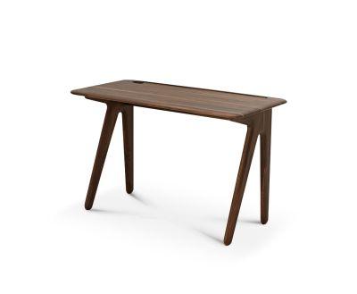 Slab Individual Desk Small Fumed Oak