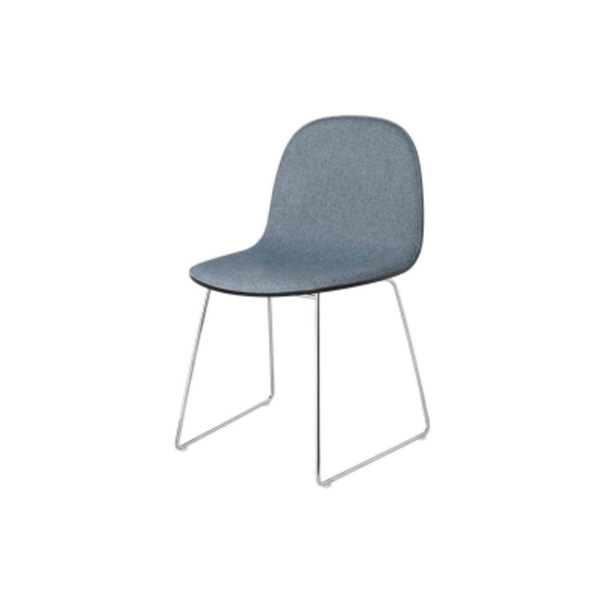 2d Dining Chair Front Upholstered Sledge Base Stackable
