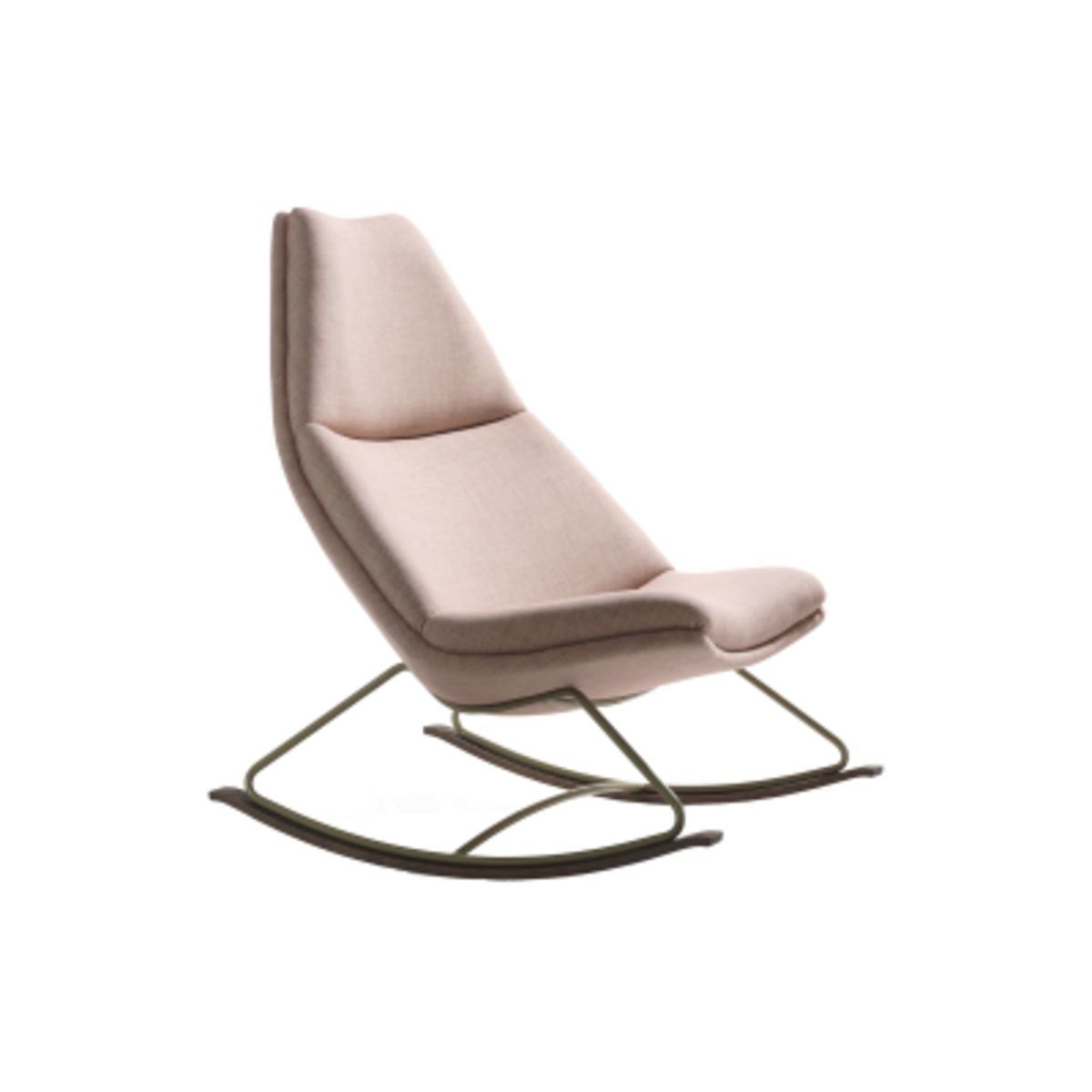 Artifort Design Fauteuil Geoffrey Harcourt.Rocking Chair With Fixed Upholstery Powder Coat Oil Main Line Flax