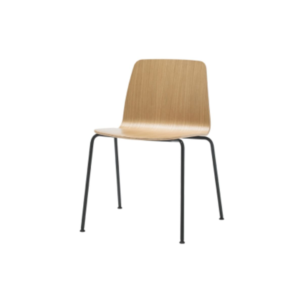 Varya Wood Dining Chair Stackable 4 Legs Base Set Of 4 By
