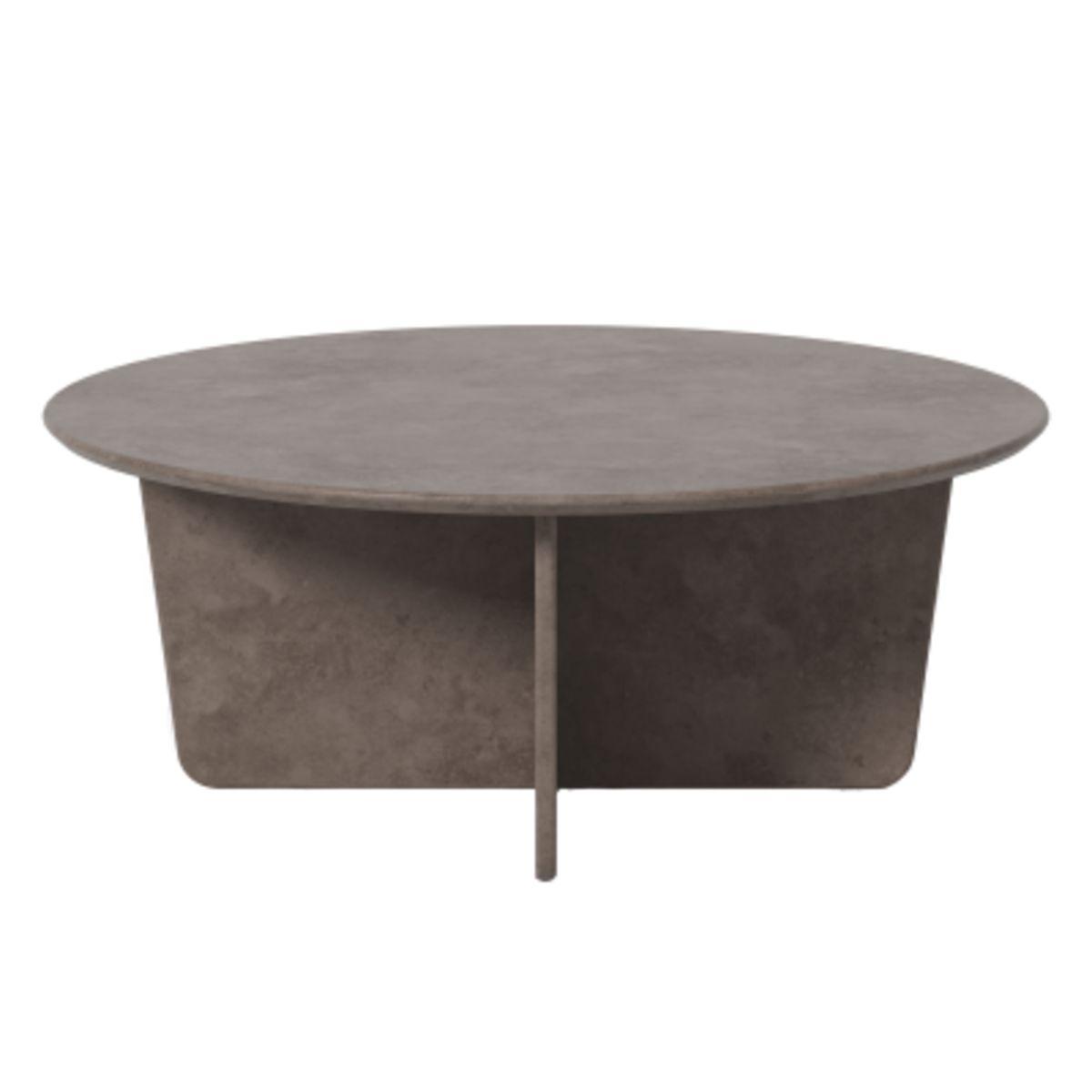 Tableau Coffee Table, Dark Atlantico Limestone, Round Top
