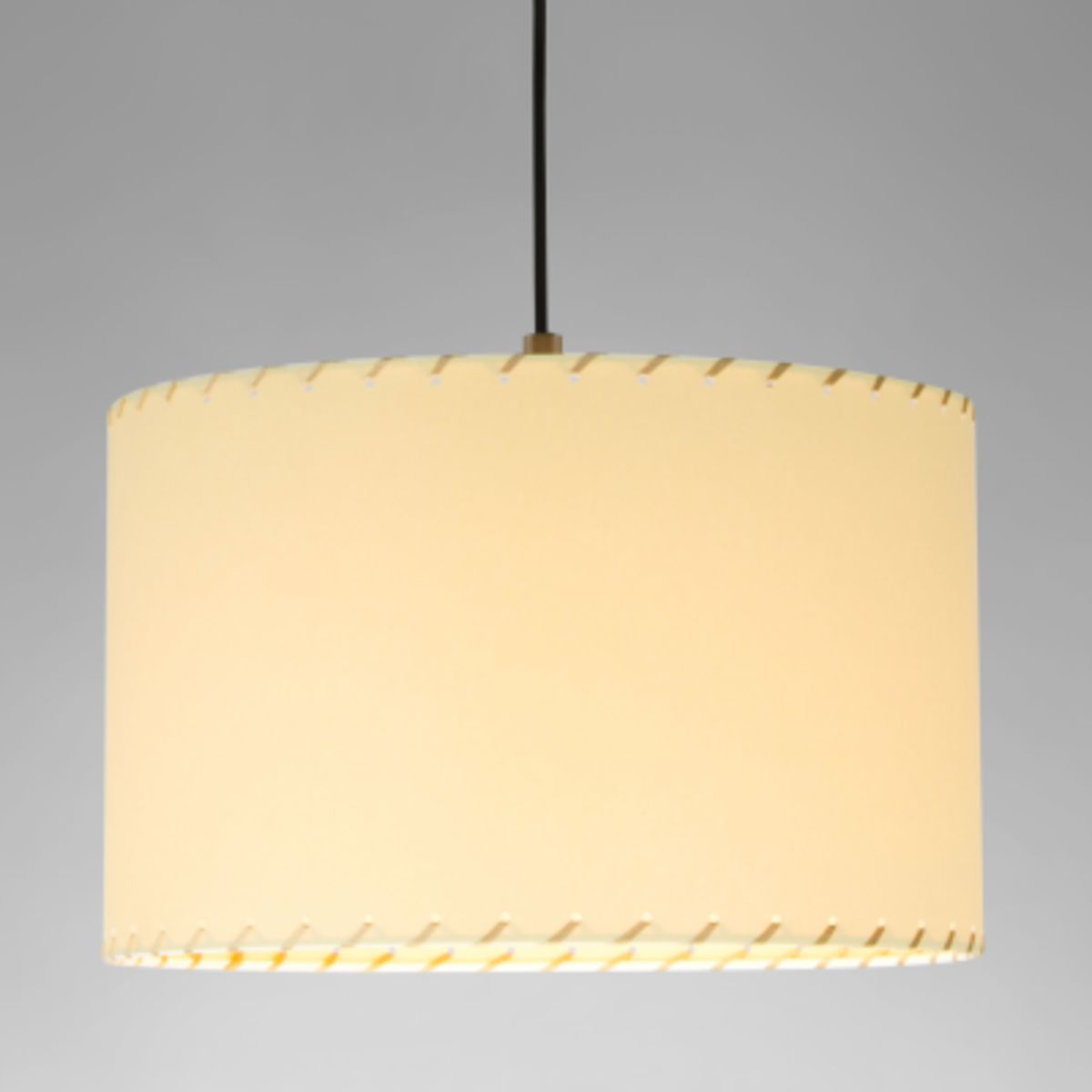 dd80d44fe499e Sistema Sisisi PT2 Pendant Light Satin nickel, Stitched beiged parchment