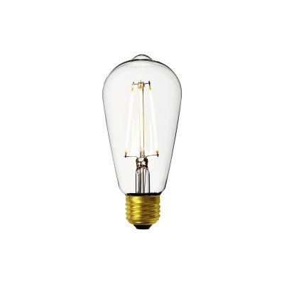 6 X LED 5W Gold Antique Filament Light Bulb Lamp Vintage Pear Squirrel Cage ST64