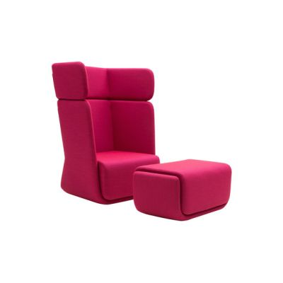 Basket chair with footrest by Softline A/S