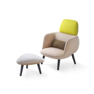 Betty High Armchair and Pouf by Maxdesign